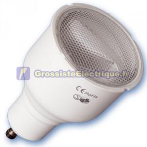 Encadré 10 ampoules basse énergie 12W GU10 230V 2700K chaud