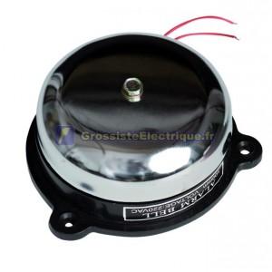 Bell Telephone circulaire en acier auxiliaire, 230V. 10cm. 86 dB. 350 gr. Un son exceptionnel, montage en surface.