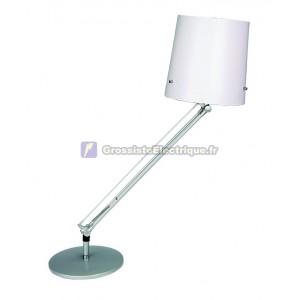 Flexo lampe de bureau blanc avec ampoule à économie d'énergie