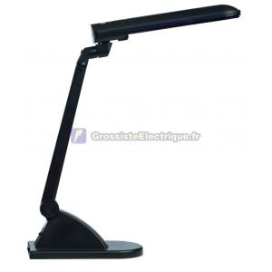 Flexo bureau noir de lampe à économie d'énergie 11W
