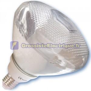 Encadré 10 ampoules basse consommation PAR38 20W E27 lumière verte