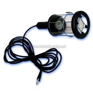 Industriel lampe portative avec boucliers métalliques et caoutchouc Max.60W/230V-50Hz.de 5 mètres.