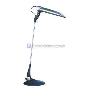 Flexo lampe de bureau noir / gris avec économiseur d'énergie PL9W