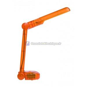Flexo bureau lampe orange avec économiseur d'énergie PL9W pliage