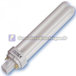 Encadré 10 ampoules basse consommation 18W 4200K Electronics plc G24q jours