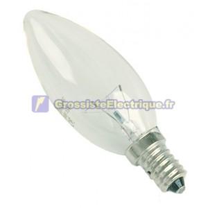 Boîte à incandescence ampoules E14 40W 230V 10 bougie clair