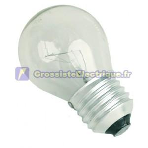 Encadré 10 ampoules à incandescence 60W E27 230V sphérique claire