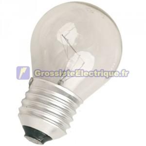 Encadré 10 ampoules à incandescence 25W E27 230V sphérique claire