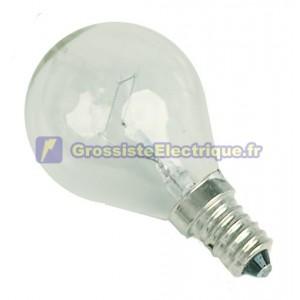 Encadré 10 ampoules à incandescence 60W E14 230V sphérique claire