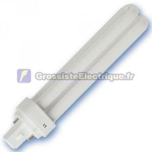 Encadré 10 ampoules basse énergie 4200K 18W G24d PLC froid