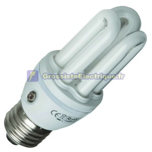 Encadré 10 ampoules capteur de puissance faible 3 E27 20W tubes froids