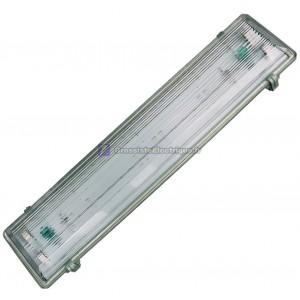 Ecran rétro-éclairé pour 2 tubes fluorescents T8, la structure de l'ABS. 2x58W.
