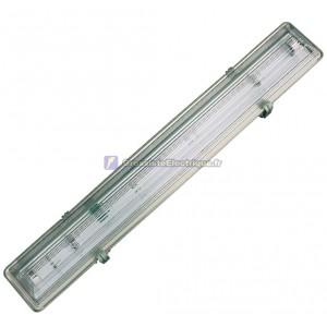 Ecran rétro-éclairé pour 1 tube fluorescent T8, la structure de l'ABS. 1x18W.
