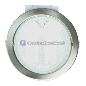 Downlight encastré rond 230V en courant continu, Black, 2x25W.