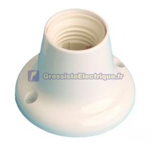 Douille E27 blanc, thermoplastique Max. 4A 250V 40W, droit