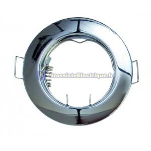 Aro rond encastré au plafond fixé pour lampe dichroïque. MR16-12V-max.50W. Bronze.