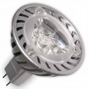 Encadré 10 3,6 W pour lampes à LED (3x1W) MR16 G5, 3 froides 38 º 6400k