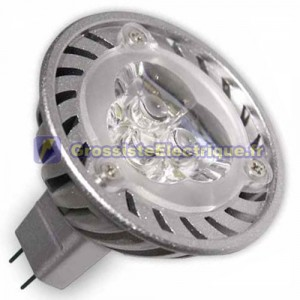 Ampoule LED 3.6 W (3x1W) MR16 G5, 6400K 38º