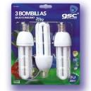 Pack de 3 ampoules E27 15W 4200K