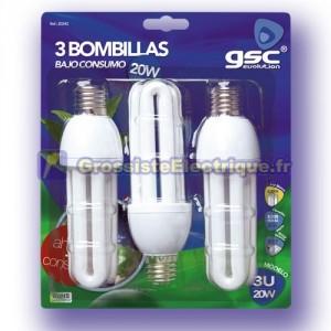 Pack de 3 ampoules 15W E27 4200K