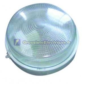 Appliquer mateial rond en plastique isolante diffuseur en verre, E27.Máx.100W.230V. 255mm. Blanc