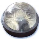 Appliquer plastique rond mateial isolant diffuseur en verre, E27.Máx.60W.230V. IP44, blanc.