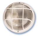 Appliquer plastique rond mateial isolant diffuseur en verre, E27.Máx.60W.230V. IP44, Noir.