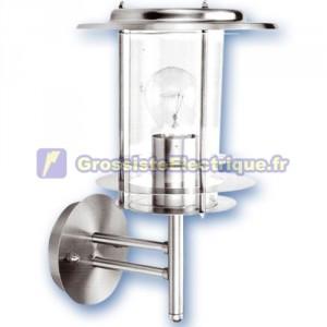 Cour Farol cylindrique en acier inoxydable, E27. Max. 60W. 230. IP44, usage extérieur. Nickel satiné.